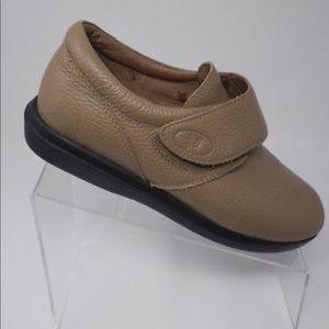 Propet leather diabetic walking shoe sz 11 beige